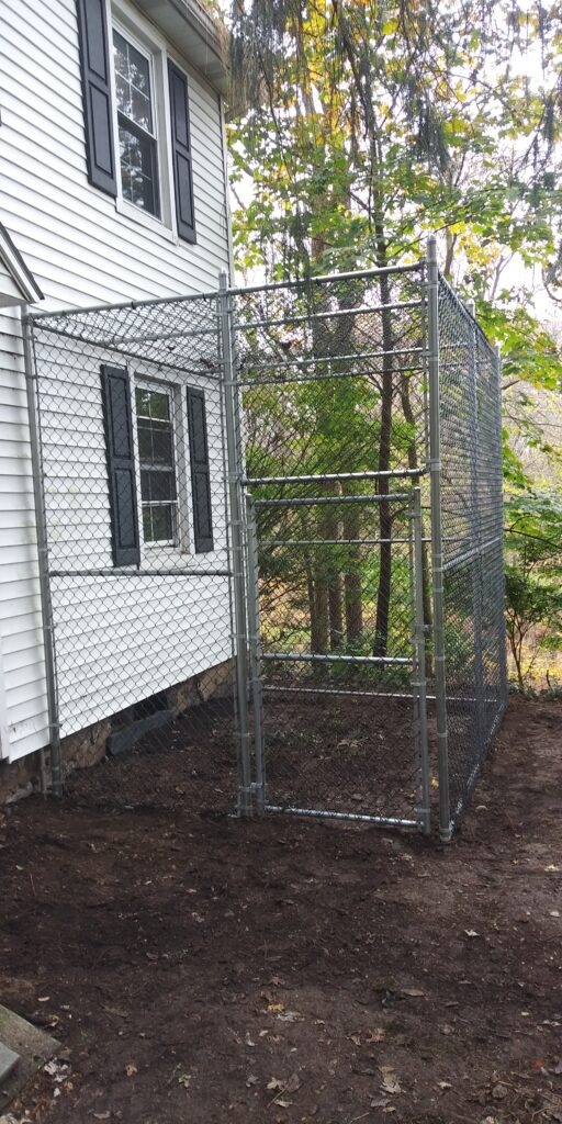 """Fenced area for cats (""""cat-io"""")"""